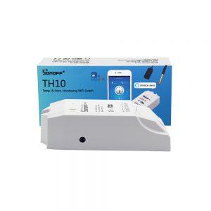 sonoff th10 công tắc thông minh d9ieu2 khiển từ xe qua Wifi tích hợp cảm biến nhiệt độ, độ ẩm