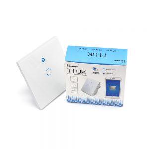 Sonoff T1UK - Công tắc cảm ứng âm tường 1 nút nhấn WiFi + RF433
