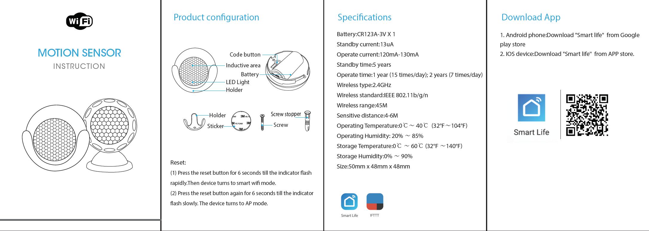 Hướng dẫn sử dụng Cảm biến chuyển động Wifi thông minh Tuya