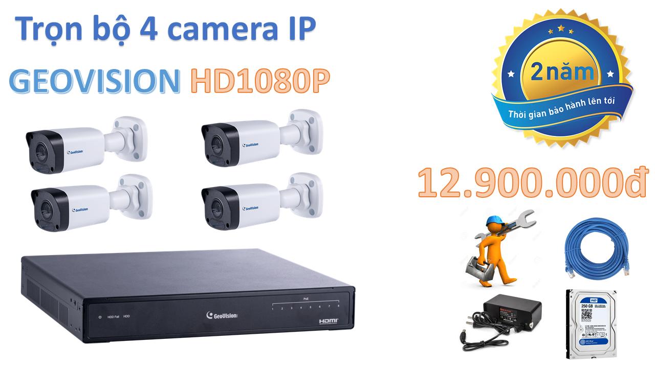 Camera trọn bộ 4 camera GeoVision HD1080P