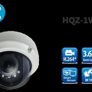 Camera nhận diện khuôn mặt 1080P H.264+ Motorized Vandal Dome HQZ-1WKDB (3.6X)