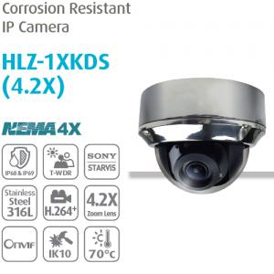 Camera IP chống ăn mòn chuyên dụng Dome HLZ-1XKDS (4.2X)