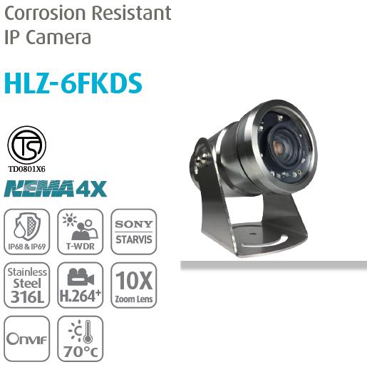 Camera IP chống ăn mòn chuyên dụng Thân HLZ-6FKDS