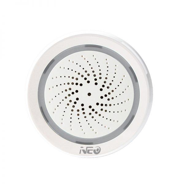 Còi báo động Zigbee thông minh kết hợp cảm biến nhiệt độ và độ ẩm NAS-AB02B