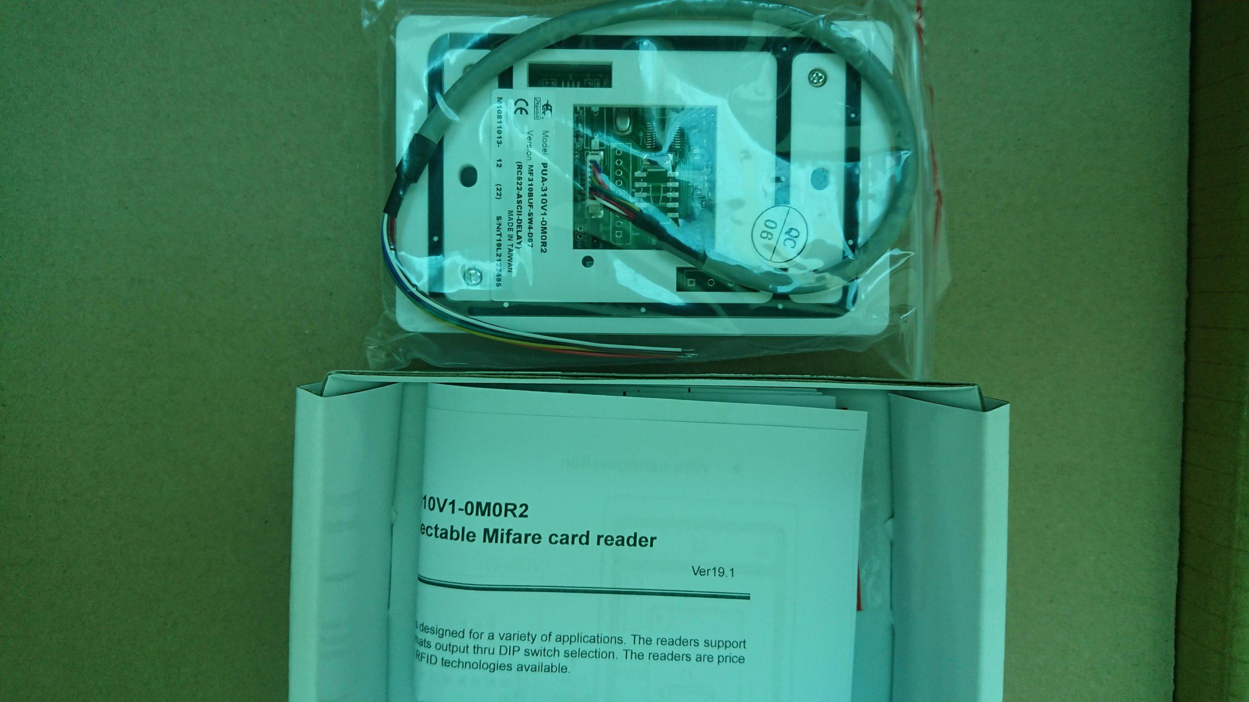 Giới thiệu Đầu đọc thẻ Mifare Pegasus chuẩn RS232 thay đổi format đầu ra PUA-310V1-0M0R2