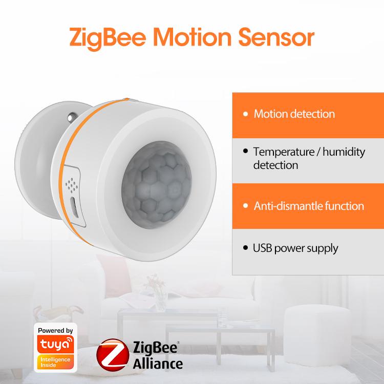 Cảm biến Zigbee thông minh 5 trong 1 NAS-PD07B phát hiện chuyển động, ánh sáng, nhiệt độ độ ẩm