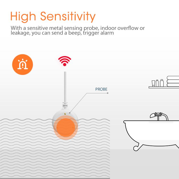 Cảm biến Zigbee thông minh báo động rò rỉ nước tràn NAS-WS02B