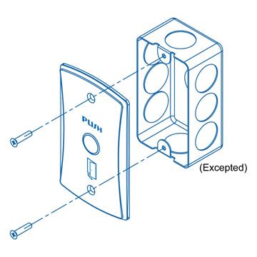 Nút nhấn hồng ngoại không chạm chống thấm nước Pegasus PBT-09IRA