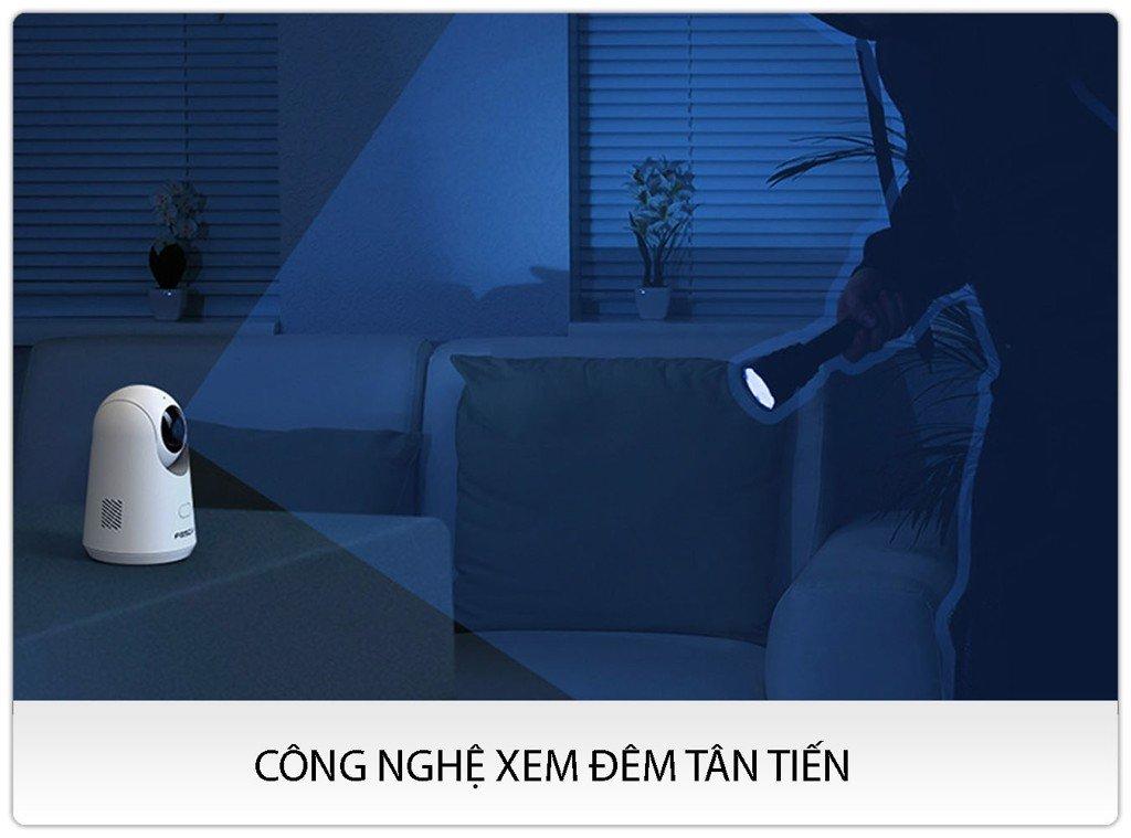 Camera IP AI Foscam X2 PTZ Full HD 1080P Phát hiện người thông minh