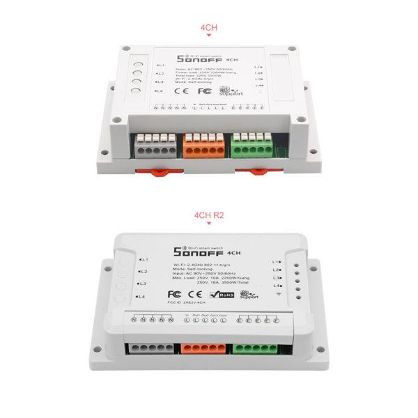 Sonoff 4CH R2 - Công tắc WiFi 4 cổng