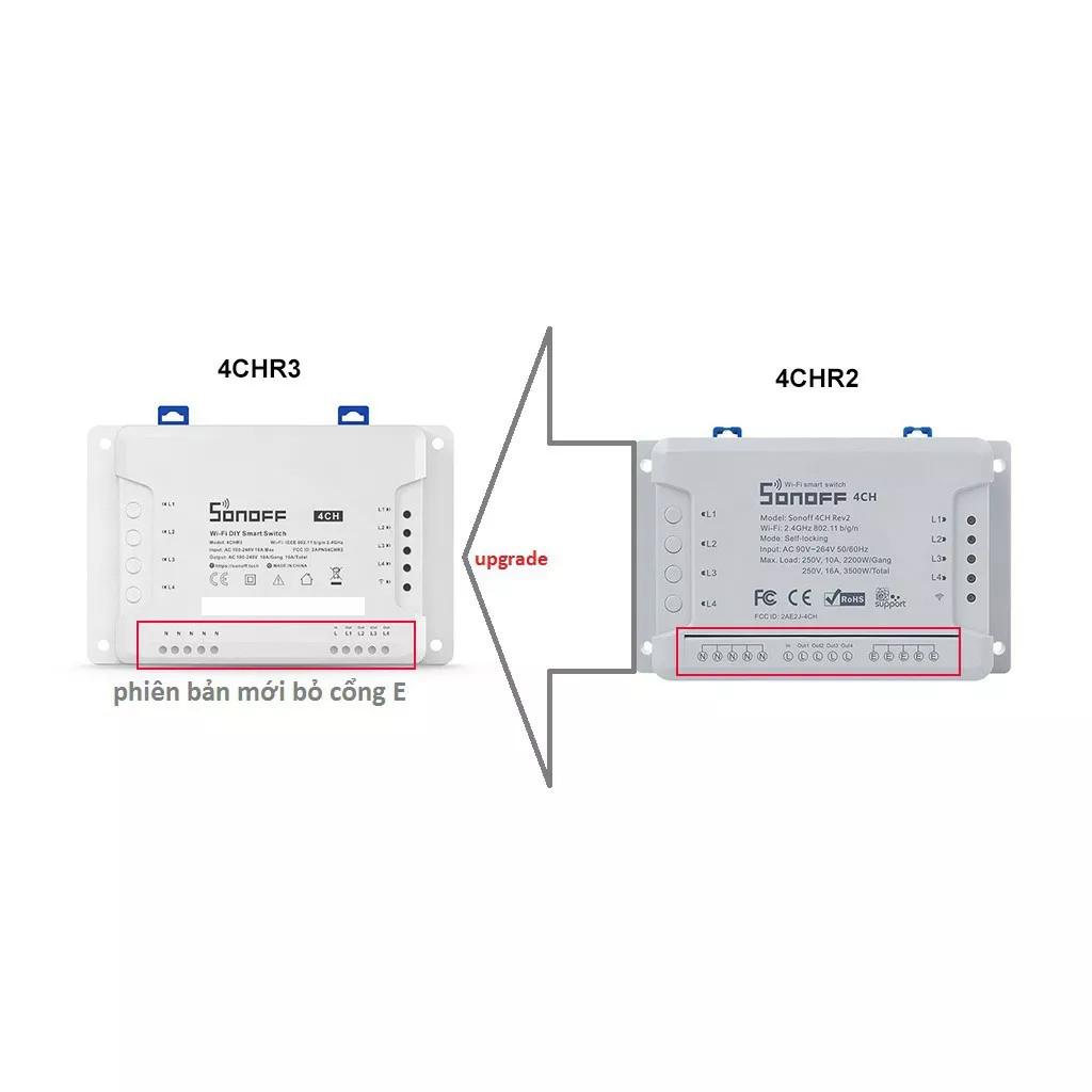 Sonoff 4CH R3 - Công tắc WiFi 4 cổng