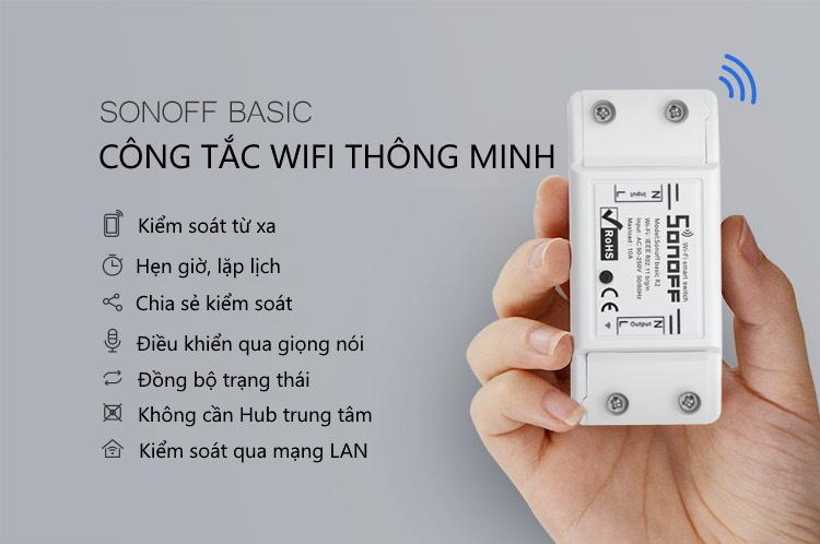 Sonoff Basic - Công tắc thông minh điều khiển từ xa qua Wifi 1 kênh