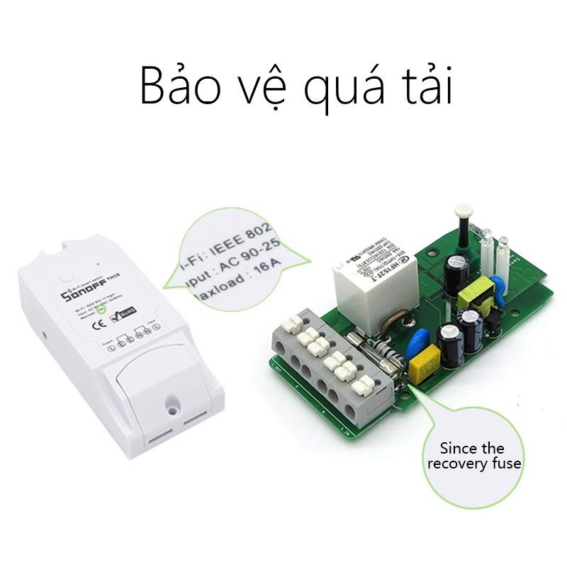 Sonoff Pow R2- Công tắc WiFi thông minh kiểm soát điện năng tiêu thụ