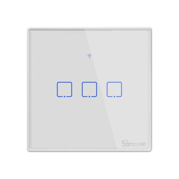 Sonoff T0EU3C-TX - Công tắc WiFi cảm ứng 3 cổng chuẩn EU trắng