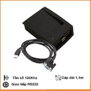 Đầu đọc thẻ RFID 125Khz cổng RS232(COM) CR206T