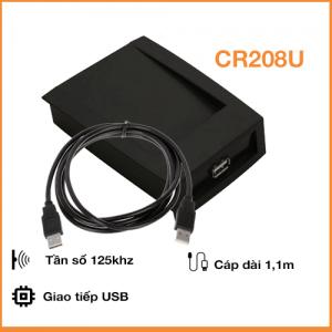 Đầu đọc thẻ Proximity 125Khz - Đọc/Ghi thẻ Temic T5577 cổng USB CR208U