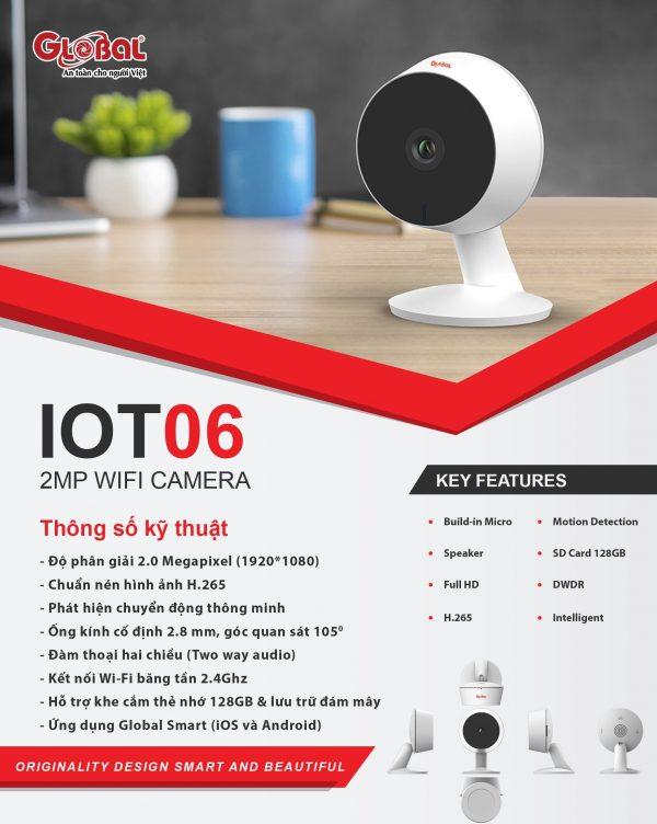 Camera IP Wifi thông minh IOT06 2Mb 1080P - Server Việt nam - Bảo hành 24 tháng